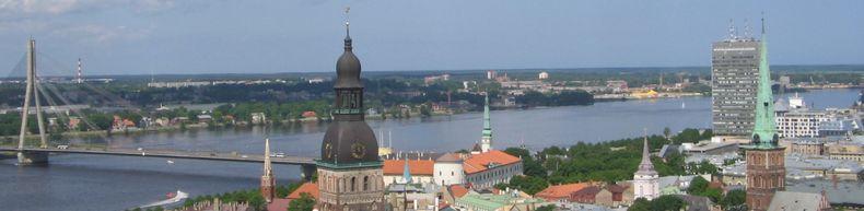 панорама Риги с церкви св.Петра