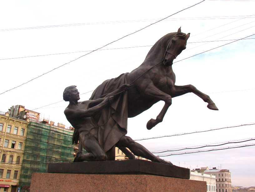 Аничков мост, кони Клодта