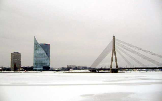 река Даугава зимой